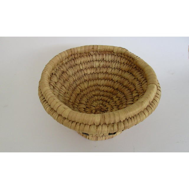 Moroccan Hand Woven Bread Basket Bowl - Image 9 of 9