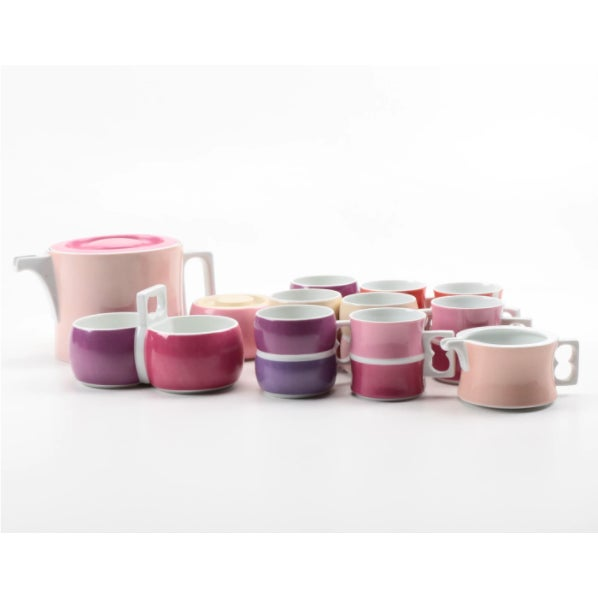 Vintage Block Chromatics Tea Set - Set of 12 - Image 2 of 10