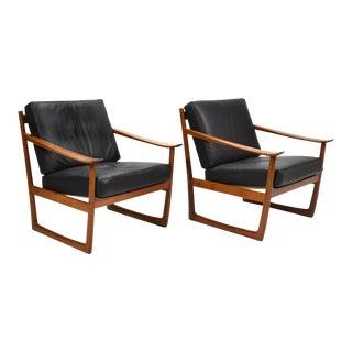 Peter Hvidt & Orla Mølgaard Nielsen Lounge Chairs by France & Son