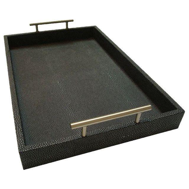 Stingray Embossed Shagreen Charcoal Tray - Image 1 of 3