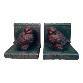 Faux Book Bird Bookends - A Pair