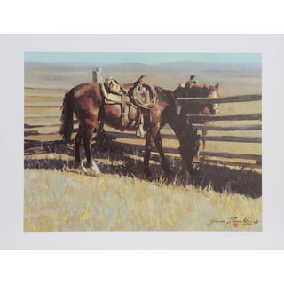 James Reynolds Vintage 'Time Out' Lithograph Print