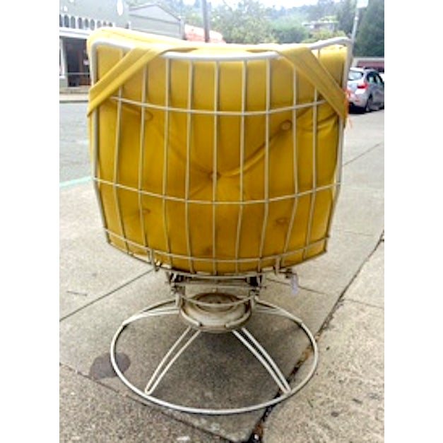 Vintage Yellow Recliner Chair - Image 4 of 4