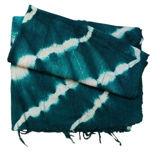 Teal Mud Cloth Textile