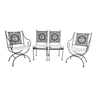 Arthur Umanoff Mid Century Mayan Sun Chairs - Set of 4