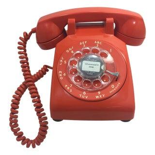 Vintage Stromberg Carlson Orange Rotary Dial Phone