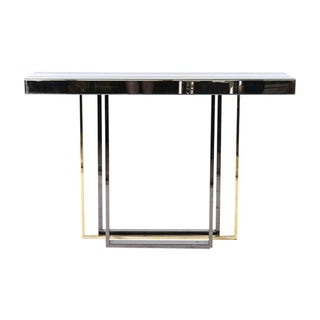 Mid-Century Modernist Mirrored Console