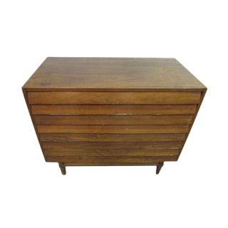 Mid Century Low Boy Walnut Dresser