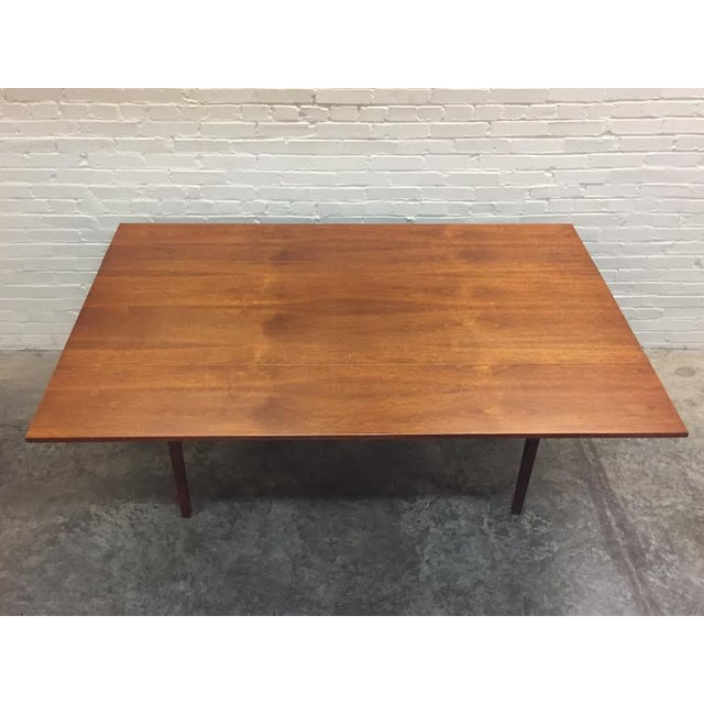 Walnut Mid-Century Danish Modern Dining Table - Image 2 of 7