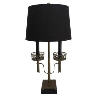 Brass Two-Light Table Desk Lamp