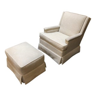 Franciscan Interiors Custom Lounge Chair & Ottoman - A Pair