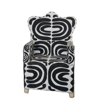 African Hand Beaded Chair