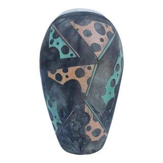 Vintage Studio Art Pottery Texture Raku Vase