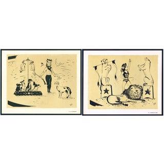 1944 Lithographs - Circus: # 43 & 46 - A Pair