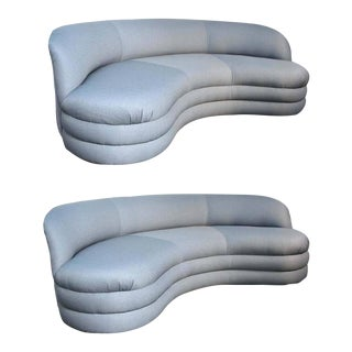 Vladimir Kagan for Directional Modern Sofas - A Pair
