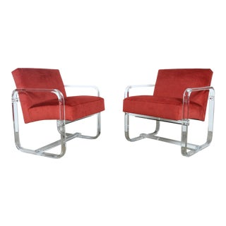 Lucite Lounge Chairs - A Pair