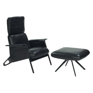 Herman Miller Hollington Leather Chair and Ottoman