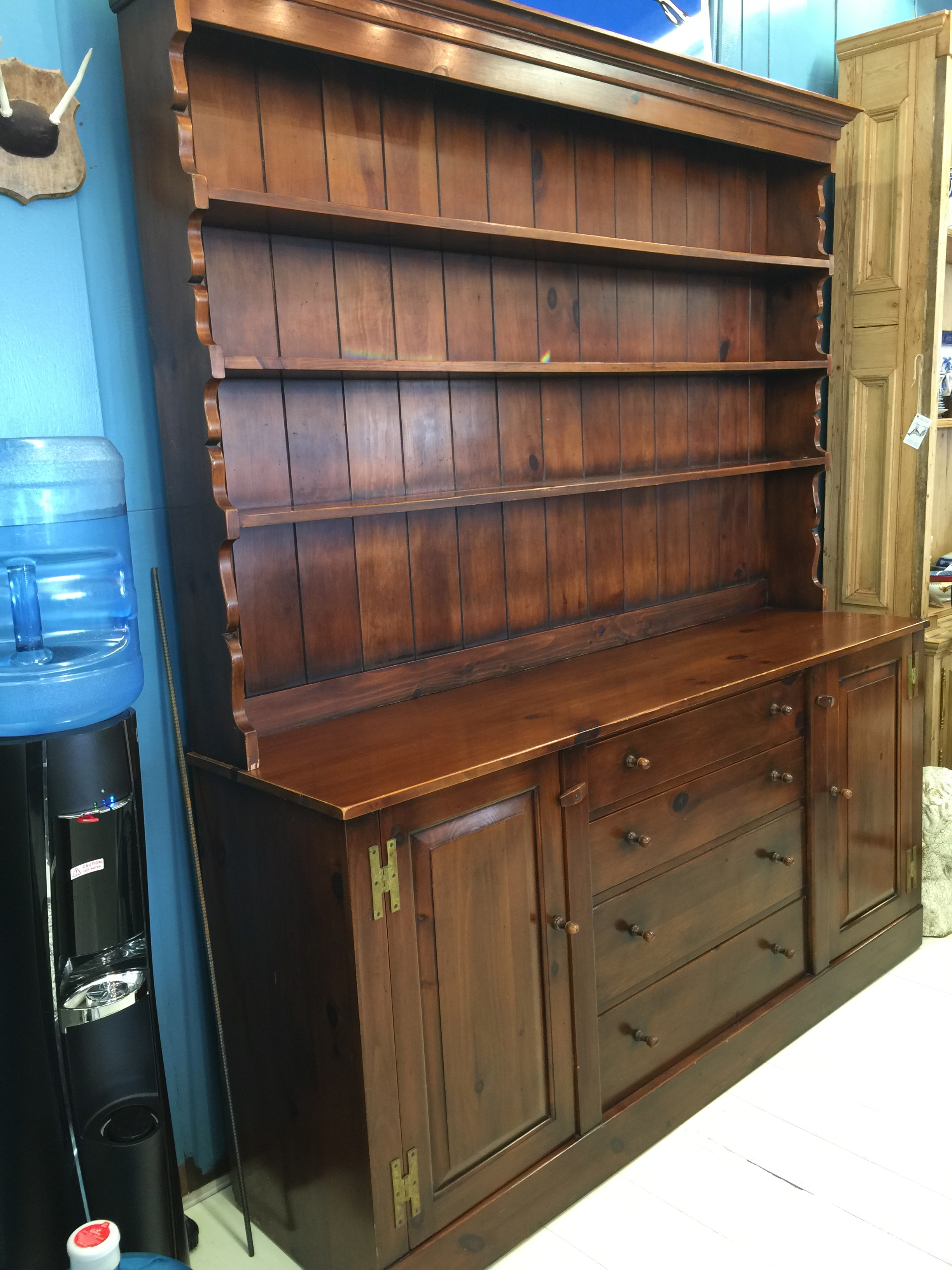 Vintage Pine Hutch by the Pine Shop