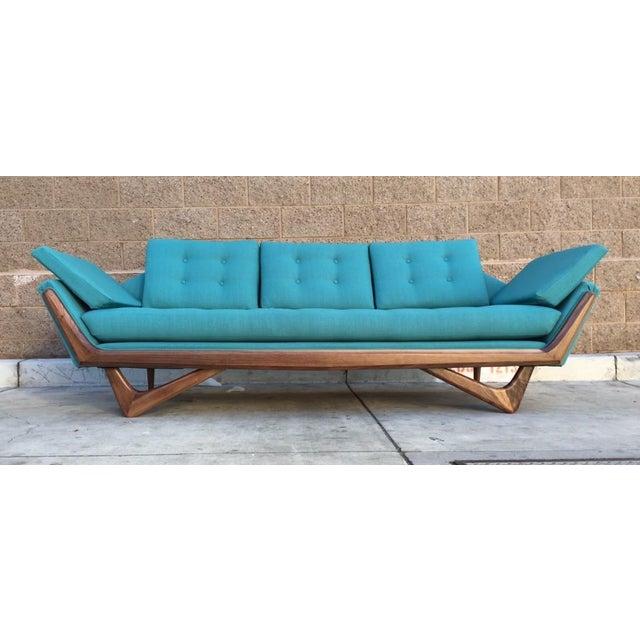 "Mid-Century Custom ""James"" Sculptural Sofa - Image 5 of 5"
