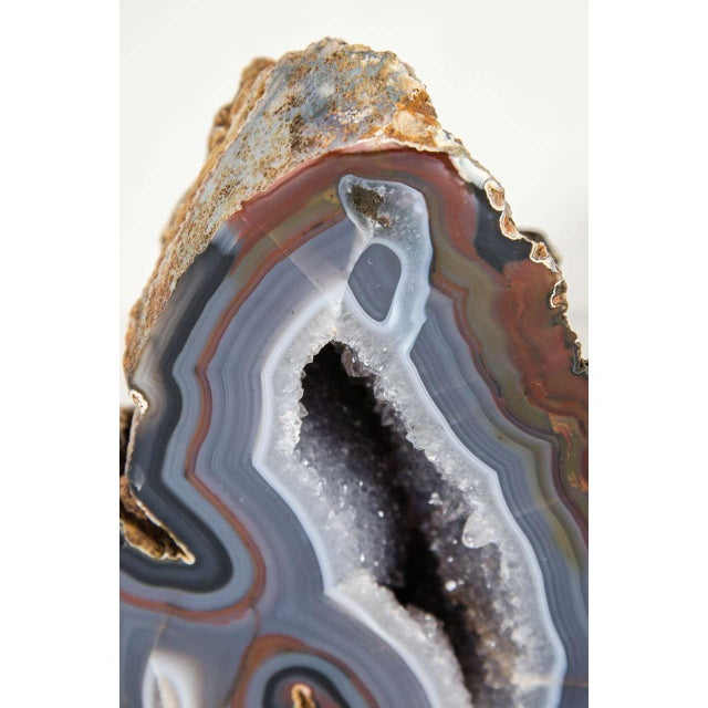 Organic Agate Stone Sculpture with Crystalline Center - Image 3 of 10