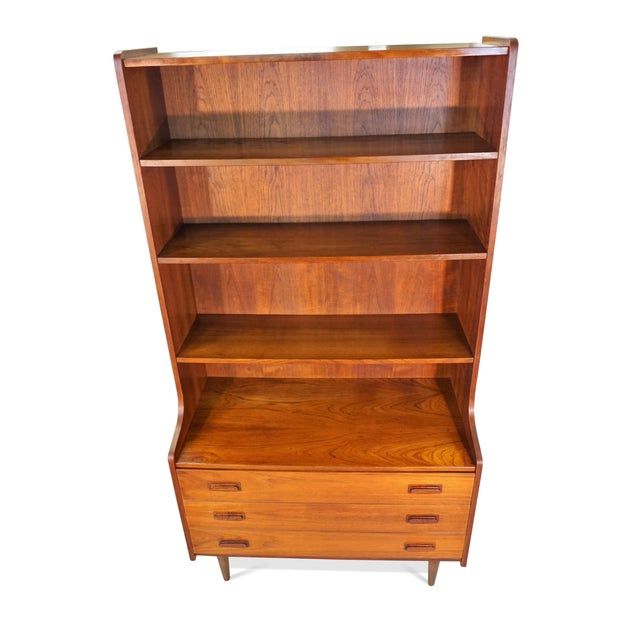 Original Danish Bookcase With 3 Drawers - Image 3 of 6