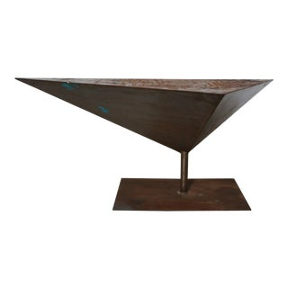 Large Modernist Geometric Steel Sculpture