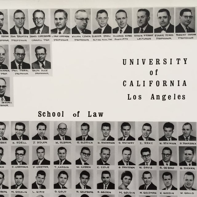 Image of UCLA School of Law Class of 1963 Framed Photo