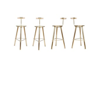 Customizable Set of 4 Erickson Aesthetics Brass Stool