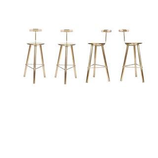 Set of 4 Erickson Aesthetics Brass Stool