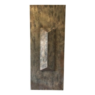 Metallic Modern Wall Sculpture