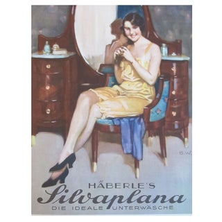 Original 1927 Lithographic Mini Poster of Haberle