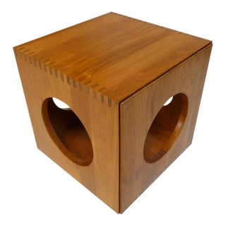 Peter Hvidt Teak Cube Nesting Tables - A Pair