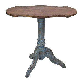 Brazilian Style Teak Tripod Pedestal Table