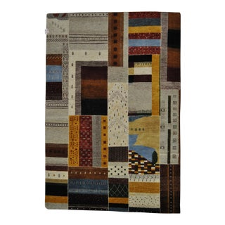 "Patchwork-Like Abstract Designed Area Rug - 5'6"" X 8'1"""