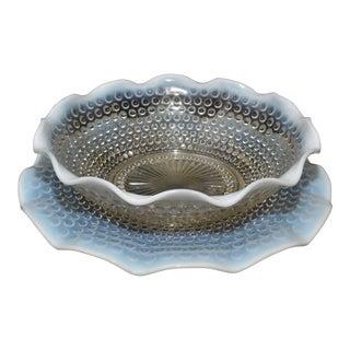 Anchor Hocking Moonstone Bowl & Platter