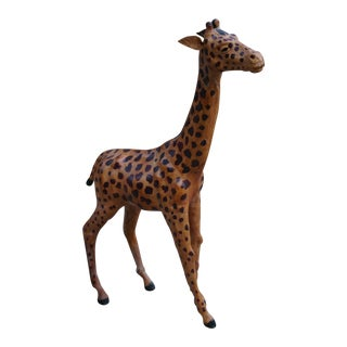 Vintage Leather Giraffe