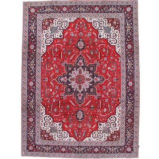 Pasargad N Y Fine Persian Tabriz Heriz Design 60-Raj Silk and Wool - 10' X 13'5""