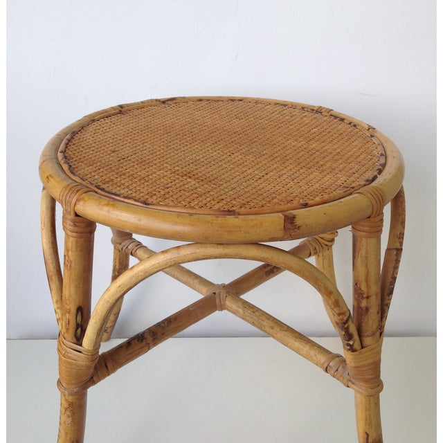 English Bamboo Round Occasional Table - Image 5 of 11