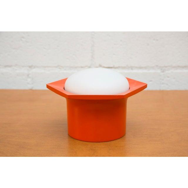 Raak Vintage '70s Hexagon Orange & Milk Glass Lamp - Image 3 of 7