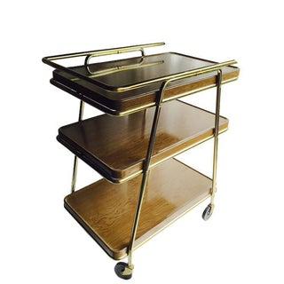 Mid-Century Atomic Age Three-Tiered Bar Cart