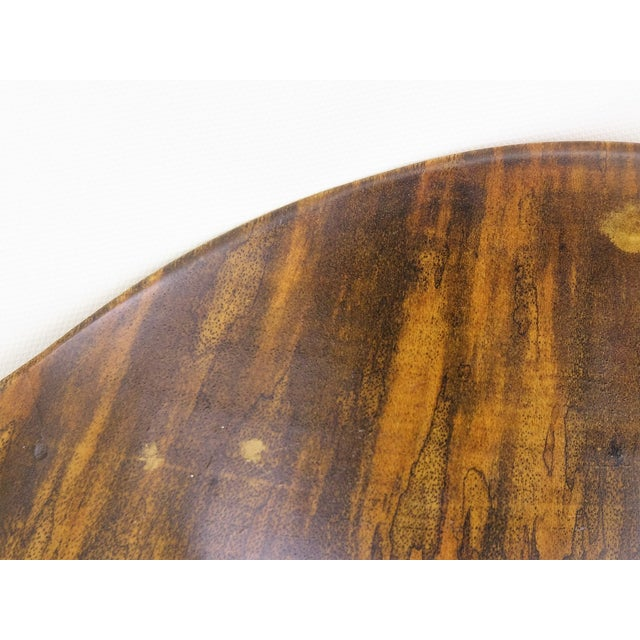 David Auld Large Mid-Century Wood-Carved Bowl - Image 10 of 11
