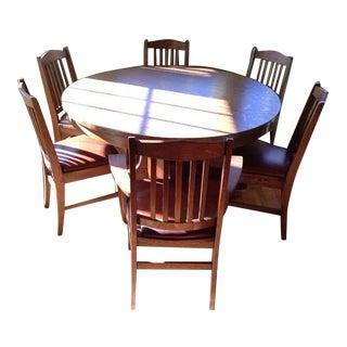 Vintage Carved Maple Dining Set
