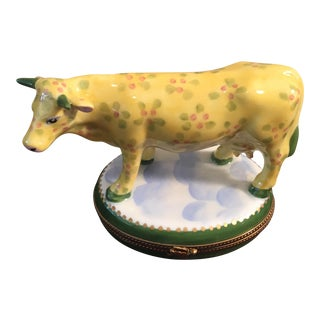 Limoge Limited Edition Cow Trinket Box