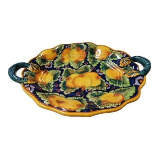 Deruta Italy Hand Painted Majolica Serving Platter