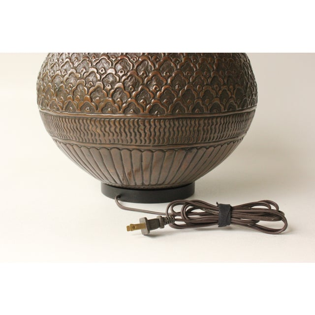 Tribal Repousse Table Lamp - Image 7 of 7