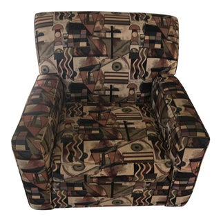 Bauhaus Art Deco Fabric Armchair