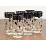 Image of Dorothy Thorpe Silver Dot Tall Glasses - Set of 6