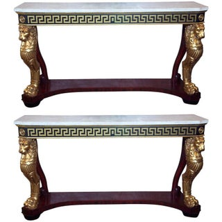Neoclassical Consoles by Jansen - A Pair