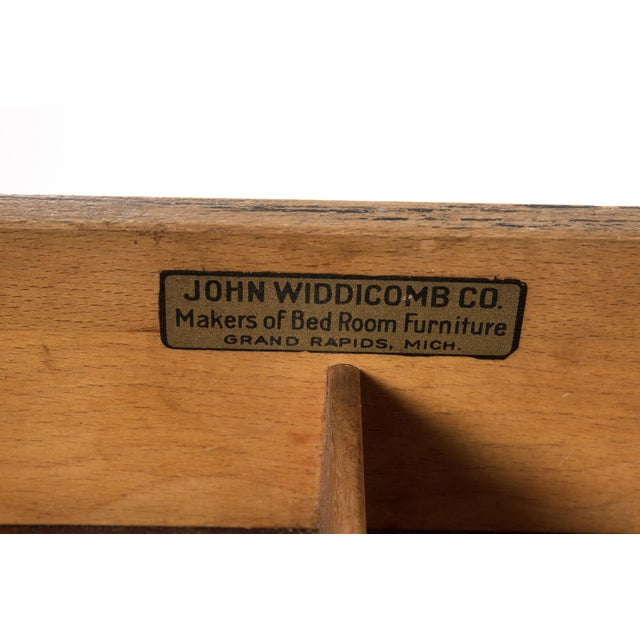 1940s Newly Refinished White Painted Writing Desk/ Vanity by Widdicomb - Image 7 of 7