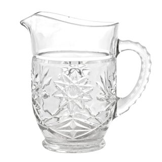 Hobstar Glass Milk Pitcher